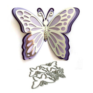 3D Layered Butterfly Metal Cutting Dies Scrapbooking Embossing Album Card Craft
