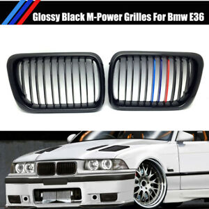 For 1997-1999 BMW E36 M3 3 Series 320 328 M-Color Front Kidney Grilles Grill CI