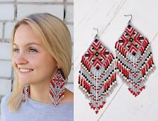 Native american beaded earrings, style Beadwork, native style earrings,