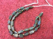 2000 Year 150 BC ANCIENT FRAGMENTS SHARDS ROMAN GLASS BEADS 1 STRAND AQUA GREEN