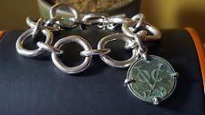 "Heavy Tracey Mayer 925 sterling silver bracelet. 8"""
