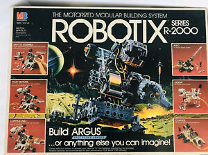 VTG MILTON BRADLEY 1985 ROBOTIX SERIES R-1000 MOTORIZED MODULAR BUILDING SYSTEM