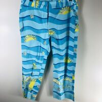 Lilly Pulitzer Rugby Sun Ocean Waves Capri Pants - Womans Size 10