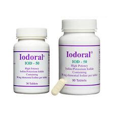 Optimox Iodoral IOD-50 High Potency Iodine/Potassium Iodide - 30 or 90 Tablets