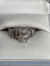 Dress Ring. 6.5 grams. Size N Tacori 925 Silver and Cubic Zirconia