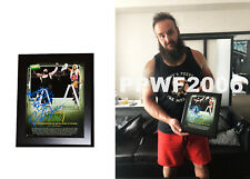 WWE BRAUN STROWMAN HAND SIGNED MITB FRAMED PLAQUE 10X13 WITH PICTURE PROOF & COA