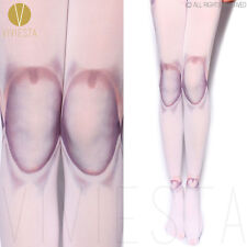 JOINTS ILLUSION PRINTED OPAQUE TIGHTS 80D Women Japan Harajuku Street Pantyhose