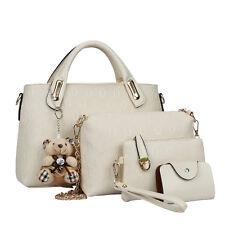 3pcs Mode Leder Shopper Bag Damentasche Handtasche Schultertasche Damen Tasche