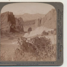 Gateway to the Garden of the Gods CO Underwood Stereoview c1900