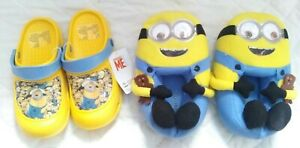 Despicable Me Minion Clogs & Bob Slippers with bear
