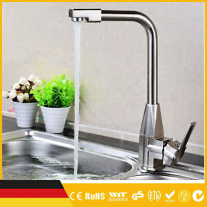 Wasserhahn Küchenarmatur Spültisch Armatur Küche DHL DE + 2x Anschlussschläuche