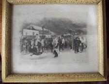 EAU FORTE <AUGUSTE LANCON <PORTE D ORLEANS  NOVEMBRE 1870  <ENCADREMENT S VERRE