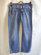 """Ladies Jeans - Replay, 28""""W, 32""""L, light blue distressed, worn ripped/hem - 0032"""
