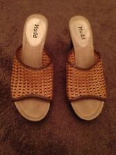 Mudd Shoes Size 9.5 Brown Tan Clog Clogg Heel Pump New Open Toe