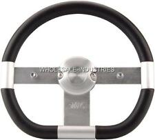 "UNIVERSAL BILLET ALUMINUM 3 SPOKE STEERING WHEEL 13.5"" APC FOR NISSAN TOYOTA NEW"