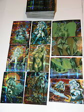 1997 Lady Death 4 IV Wicked Ways Fractal Parallel 90 Card Set by Krome