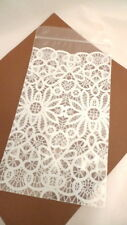 24 Decorative Lace Design PLASTIC RESEALABLE BAGS Food Gift Packaging