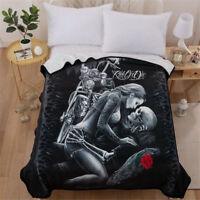 Skull Love Super Soft Warm Micro Plush Fleece Blanket Throw Rug Sofa Bedding Hot