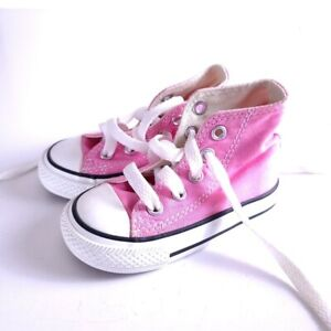 Converse Infant Pink Hi Top Sneakers Size 4