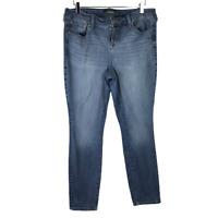Torrid Womens Skinny Jeans Size 16 Regular Blue Dark Wash Stretch Denim Zip