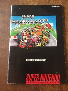Super Mario Kart SNES Super Nintendo Instruction Manual Only