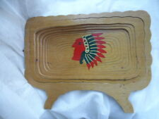 Vintage Hand Made Collapsible Wooden Bowl