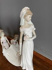 Lladro Here Comes the Bride Figurine 1446 Used No Box Tiny Flaws Vintage