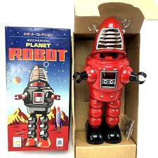 Schylling New Mechanical Planet Robot Wind-Up Walking Toy Red Collector Item