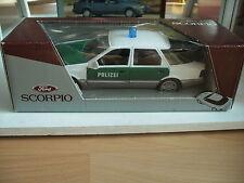 Schabak Ford Scorpio Polizei in White/Green on 1:25 in Box