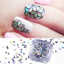 1G Nail Art Glitter Sequins Holographic Flakies Rhombus Paillette Born Pretty