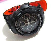 Casio G-Shock Men Black Strap Red Eye Alarm Watch AW-591MS-1ADR  AW-591MS-1A