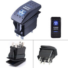 5-Pin SPST Zombie Lights  ON/OFF Blue LED Indicator Rocker Switch For Fog Lights