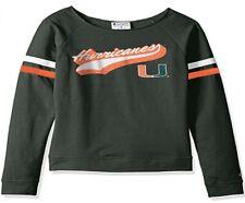 Champion NCAA Women's Long Sleeve Fashion Sweatshirt Miami Hurricanes; S; AX2510
