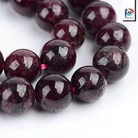 Natürliche Garnet Granat Perlen Rund Winrot 6mm Edelsteine Schmucksteine G45