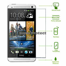 2x Hardened tempered Glass Screen shield Protector for HTC ONE (m7)
