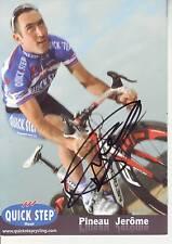 CYCLISME  carte cycliste JEROME PINEAU équipe QUICK STEP 2011 signée