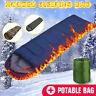 Camping Sleeping Bag Single Person Zip Lightweight Hiking Outdoor Waterproof