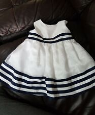 cinderella dress age 18 months white & blue great for party,wedding sailer style