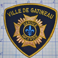 CANADA, VILLE DE GATINEAU FIRE SERVICE INCENDIE QUEBEC GOLD EDGE PATCH