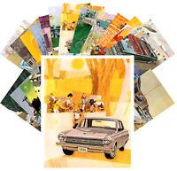 Postcards Pack [24 cards] Vintage Dodge Pontiac Classic Car Adverts CC1124