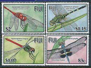2005 FIJI DRAGON FLIES SET OF 4 FINE MINT MNH