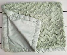 Katie Little Mint Green Baby Blanket Thick Plush Silky Satin Trim Kidsline