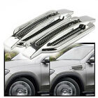 Pair Universal Chrome Air Flow Intake Fender Side Vent Hood Grille Decor Sticker  for sale