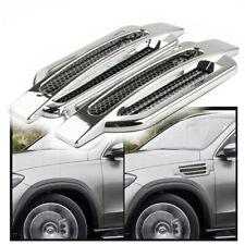 Pair Universal Chrome Air Flow Intake Fender Side Vent Hood Grille Decor Sticker Fits Mitsubishi Diamante