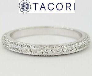 Simply TACORI Platinum 0.48 ct Diamond Eternity Wedding Band Ring Rtl $5,990