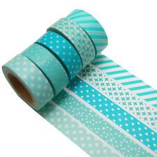 5 Rollen je 10m Washi Tape Set DIY Klebeband Scrapbooking  0,22 Eur/m 9732
