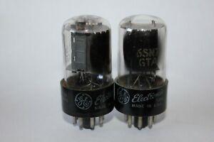2 X Ge 6SN7GTA Vorverstärker Rohre, Getestet Gut! (N-13,45)