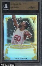 2017 Leaf Metal Pre-Production Proof Prismatic Gold Ralph Sampson BGS 1/1