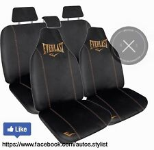 GENUINE EVERLAST BLACK AND GOLD CAR SEAT COVERS COMBO PACK EMBROIDERED