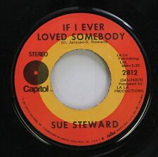 Rock 45 Sue Steward - If I Ever Loved Somebody / Lovin' Blues On Capitol
